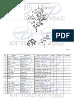 l-XT650GK-ENGINE KINROAD EINZELTEILE mit Bestell-Nummern