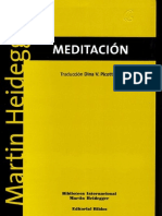 Heidegger Martin - Meditacion
