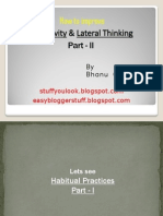 How to improve Creativity and Lateral thinking Part - 2