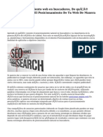 Posicionamiento web en buscadores, De qué manera Optimizar El Posicionamiento De Tu Web De Manera Natural.