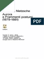 Vol 5 Tomo I - Aurora e Frammenti Postumi (1879-1881)