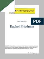 Jan 28, 2014  Rachel Friedman