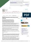 Folha Online - Cotidiano - Falta de Saneamento Mata Mais Que Crime - 16-07-2000