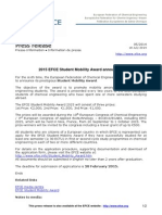 EFCE Press 2014 5 Student Mobility Award