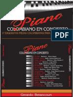 PIANO COLOMBIANO EN CONCIERTO. Por Gerardo Betancourt.