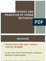 Theories and Princples of Motivation
