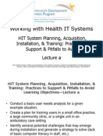 07- Working with Health IT Systems- Unit 8- HIT System Planning, Acquisition, Installation, & Training