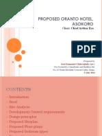 Proposed ORANTO Hotel by Geometrix Consultants