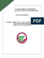 Mtech Civil Syllabus