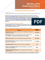 Latino Monthly Employment Report August 2014