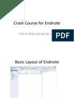 Crash Course for Endnote