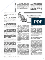 1989 Issue 6 - Church Attendance and the Professing Christian - Counsel of Chalcedon