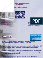 Ppt on WHO Standards and Recommendations