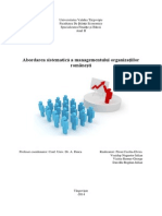 Abordarea Sistematica a Managementului Organizatiilor Romanesti (1)