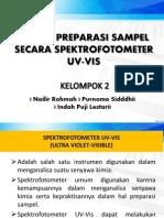 Kelompok 2 Preparasi Spektro Uv