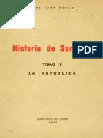 LEÓN Echaíz, René Historia de Santiago T 2