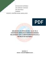 Análisis Convención DH Vrs CPRG, Sección A