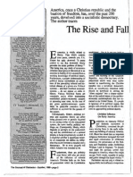1989 Issue 8 - The Rise and Fall of American Liberty - Counsel of Chalcedon