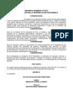 Decreto Número 10-2012