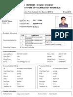 PG Application Form