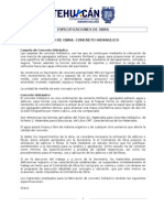 ESPECIFICACIONES CONCRETO HIDRAULICO