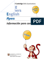 INFORMACION SOBRE EXAMEN DE FLYERS
