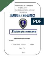 Fisiologia Del Eje Hipotalamo Hipofisiario