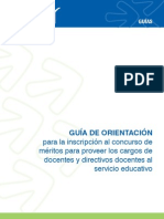 Guía de Orientación 2013