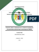 Implantación de Un Sistema de Planeamiento de Manufactura Para Una Empresa de Confecciones de Ropa Deportiva