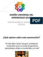 Diseño Universal Del Aprendizaje (Dua)