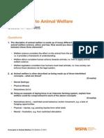 M1 SA Introduction to Animal Welfare