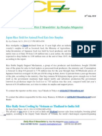 31st July,2014 Daily Global Rice E-Newsletter by Riceplus Magazine