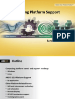 Platform Support Ansys 15.0 Detailed Summary