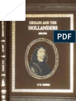 Ceylon and the Hollanders 1658-1796 by P.E PIERIS