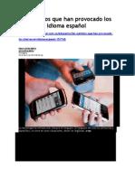 Los Cambios Que Han Provocado Los Chat en El Idioma Español