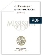 2014 Exception Report From State Auditor Stacey Pickering