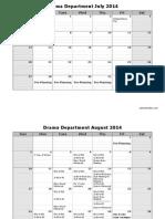 drama fall semester 2014 calendar