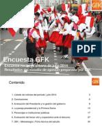 Encuesta Gfk Julio 2014