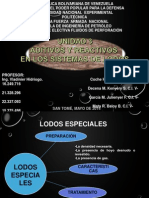 Presentación de Aditivos y Reactivos en Los Sistemas de Lodos