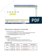ENetwork Basic Configuration PT Practice SBA
