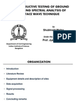 Non-Destructive Testing of Ground Sites Using SASW