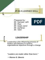 Leadership as Learned Skill