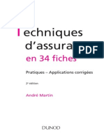 Les Techniques d'Assurances en 34 Fiches