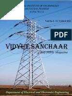 Vidyut Sanchaar Electrical Magazine October 2013 NIT Arunachal Pradesh