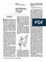 1990 Issue 1 - The Diaconal Ministry of the Church - Counsel of Chalcedon