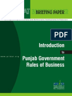 Introduction to Punjab Government Rules of Business