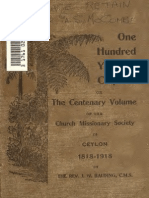 ONE HUNDRED YEARS in CEYLON Centenary Volume of the Church Missinary Society in Ceylon 1818-1918