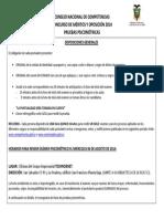 Disposiciones Generales Psicometricas Cnc