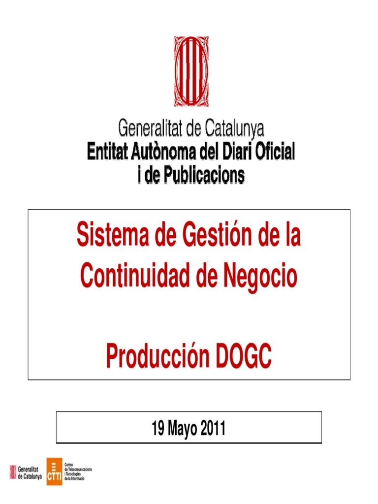 Sistema de Gestión de La Continuidad de Negocio Del DOGCv1