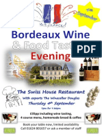 Bordeaux Wine and Food Tasting Event